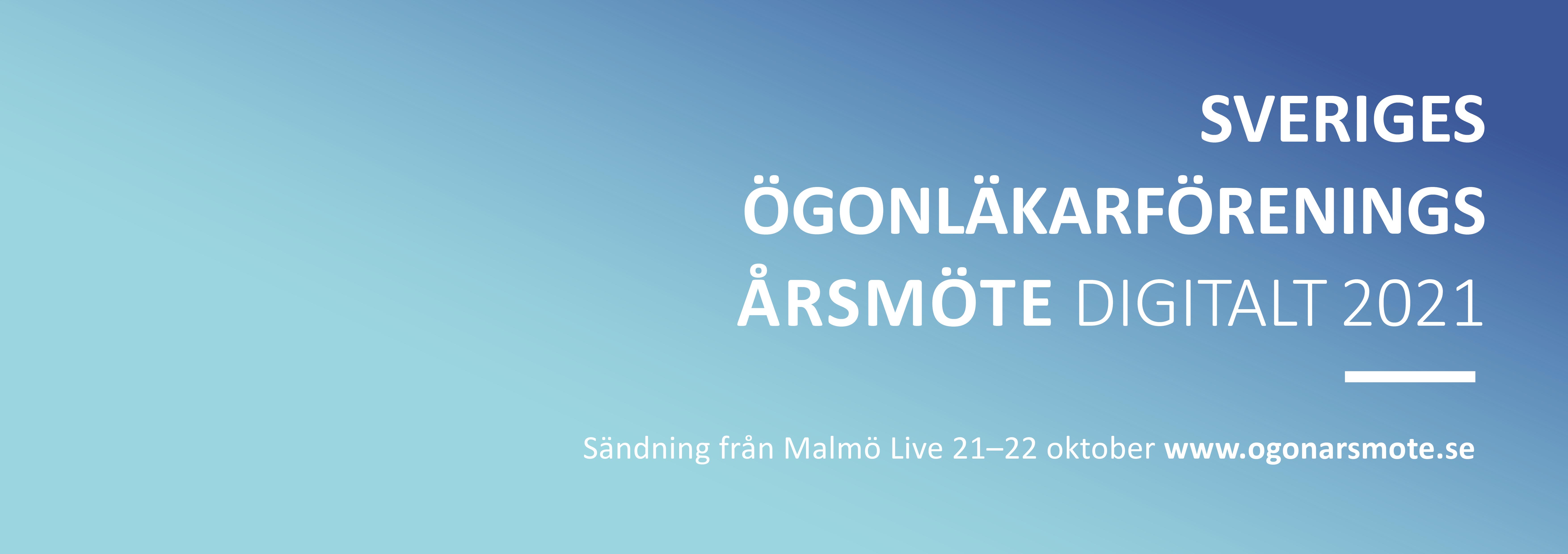 Sveriges ögonläkarförenings årsmöte. Malmö Live, 21-22 oktober, 2021. Bild.